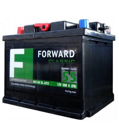 Аккумулятор FORWARD classic каз 6СТ-  55 VL АПЗ (п.п.)