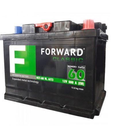 Аккумулятор FORWARD classic каз 6СТ-  60 VL АПЗ (о.п.)