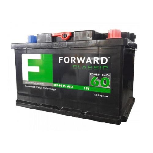 Аккумулятор FORWARD classic каз 6СТ- 60 VL АПЗ (о.п.) низ.