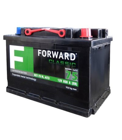 Аккумулятор FORWARD classic каз 6СТ-  75 VL АПЗ (о.п.)