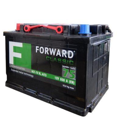 Аккумулятор FORWARD classic каз 6СТ-  75 VL АПЗ (п.п.)