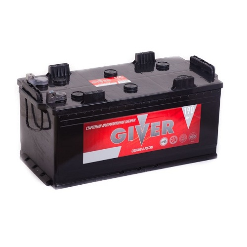 Аккумулятор GIVER 6СТ - 190  рос.болт