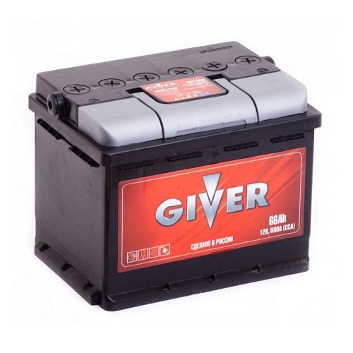 Аккумулятор GIVER 6СТ -66 ач о.п.