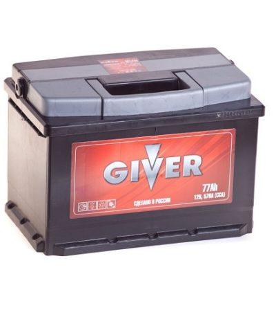 Аккумулятор GIVER 6СТ -77.0