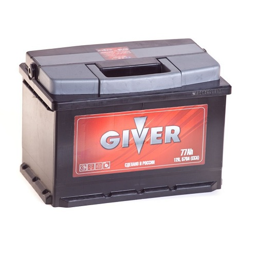 Аккумулятор GIVER 6СТ -77 ач о.п.
