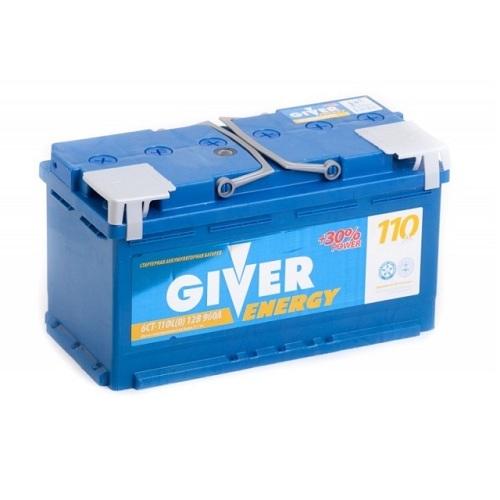 Аккумулятор GIVER ENERGY 6СТ - 110 ач о.п.