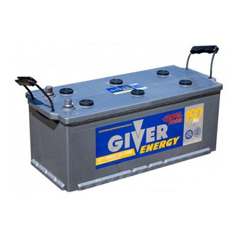 Аккумулятор GIVER ENERGY 6СТ - 190 узкий.евро конус