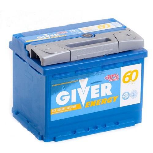 Аккумулятор GIVER ENERGY 6СТ - 60 ач о.п.