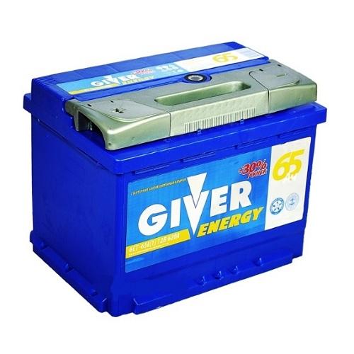 Аккумулятор GIVER ENERGY 6СТ - 65 ач п.п.