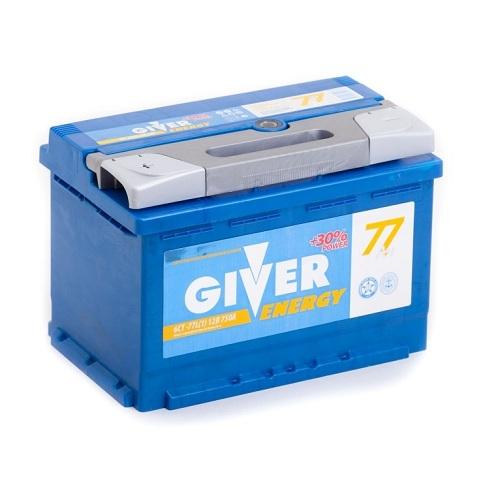 Аккумулятор GIVER ENERGY 6СТ - 77 ач п.п.