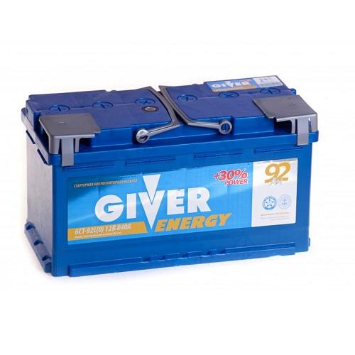 Аккумулятор GIVER ENERGY 6СТ - 92 ач о.п.