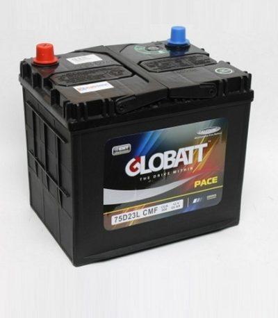Аккумулятор Globatt (75D23L) 65 (о.п) ниж.креп.