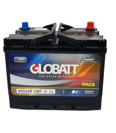 Аккумулятор Globatt (80D26R) 70 (п.п) ниж.креп.