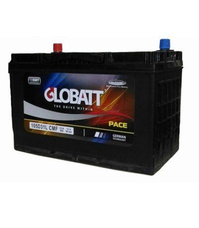 Аккумулятор Globatt(105D31L) 90 (о.п) ниж.креп.