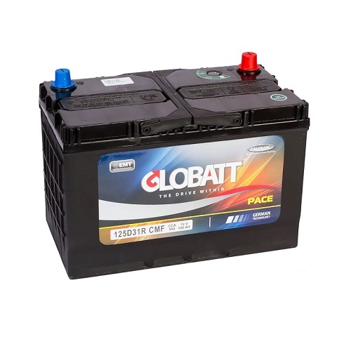 Аккумулятор Globatt(125D31R) 100 (п.п) ниж.креп.