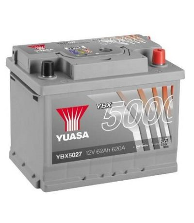 Аккумулятор GS YUASA YBX5027SMF Silver High Performance 62 (о.п.)