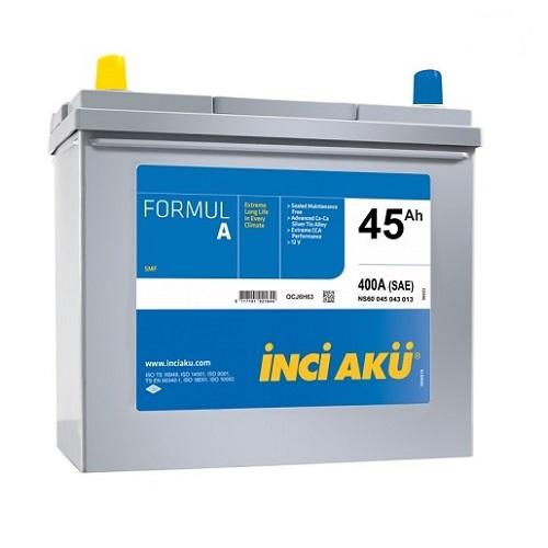 Аккумулятор Inci Aku ASIA FormulА 6СТ -  45 (п.п.) (55B24R) тонк.кл.