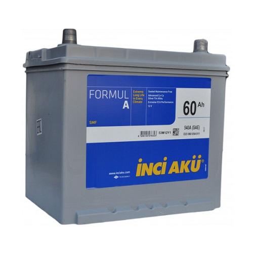 Аккумулятор Inci Aku ASIA FormulА 6СТ -  60 (о.п.) (75D23L) ниж.креп.