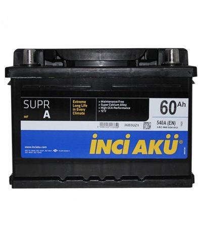 Аккумулятор Inci Aku SuprA 6СТ - 60 (о.п.) LB2 низ.