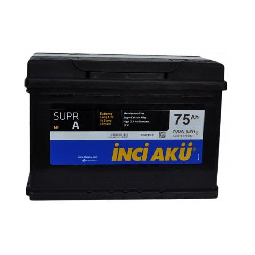 Аккумулятор Inci Aku SuprA 6СТ - 75 (п.п.)