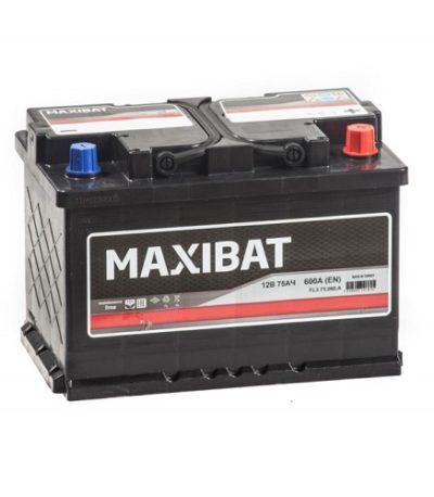 Аккумулятор MAXIBAT 6СТ- 75 ач о.п.