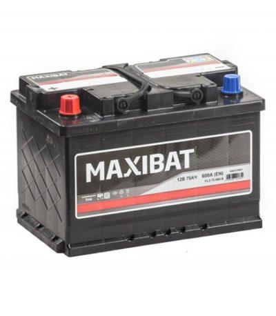 Аккумулятор MAXIBAT 6СТ- 75 ач п.п.