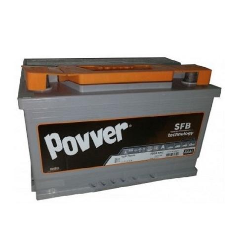Аккумулятор POVVER SERIE 3  6CT- 75 (о.п.) низ.