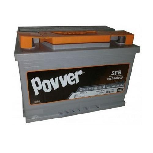 Аккумулятор POVVER SERIE 3  6CT- 75 (о.п.)