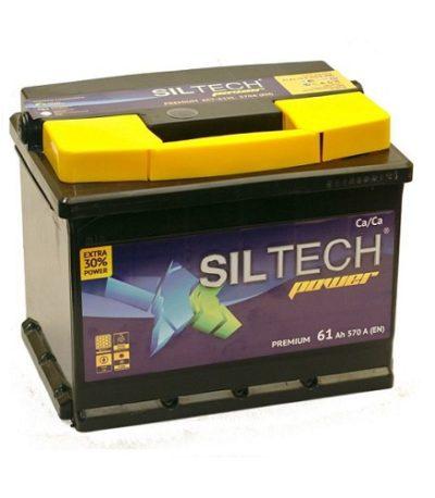 Аккумулятор SILTECH 6СТ-  61 ач (п.п)