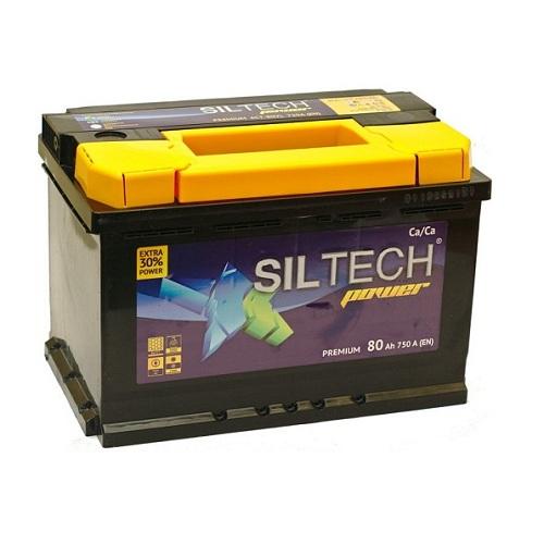 Аккумулятор SILTECH 6СТ-  80 ач (п.п)