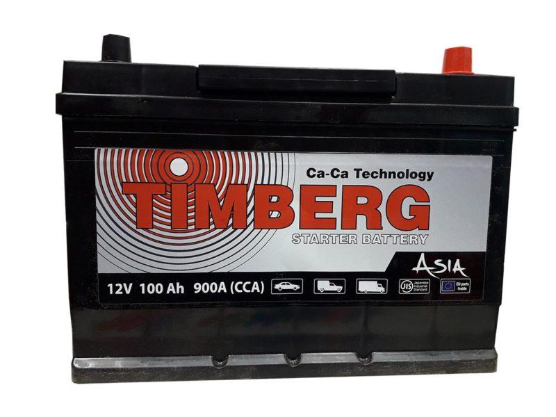Аккумулятор Timberg Asia 6СТ-100 VL (о.п.) MF125D31L ниж.креп.