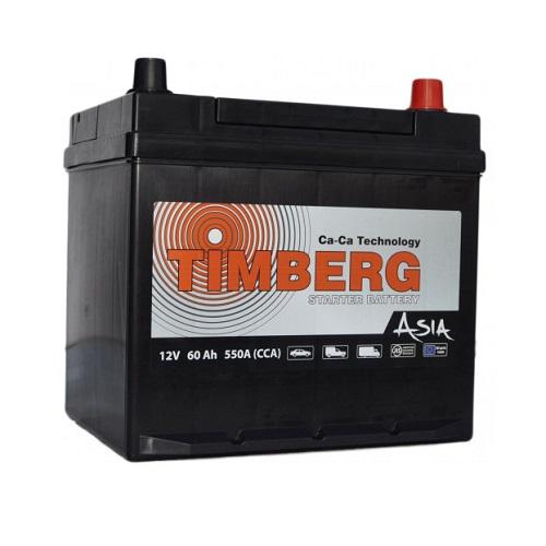 Аккумулятор Timberg Asia 6СТ- 60 VL (о.п.) MF55D23L ниж.креп.