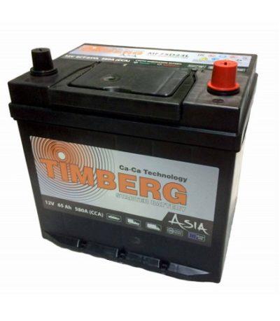 Аккумулятор Timberg Asia 6СТ- 65 VL (о.п.) MF75D23L ниж.креп.