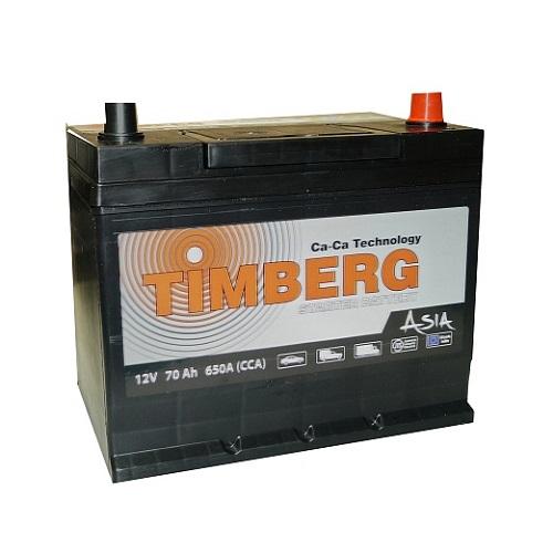 Аккумулятор Timberg Asia 6СТ- 70 VL (о.п.) MF80D26L ниж.креп.