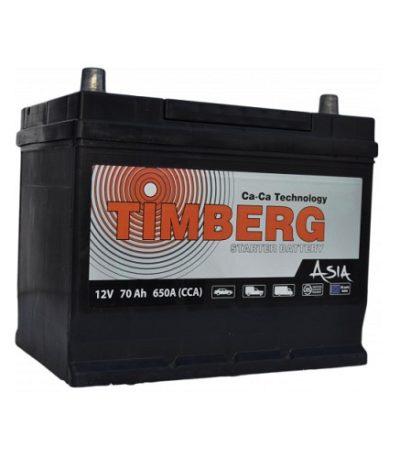 Аккумулятор Timberg Asia 6СТ- 70 VL (п.п.) MF80D26R ниж.креп.