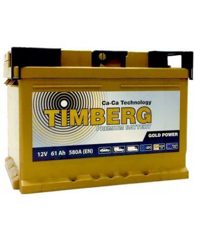 Аккумулятор Timberg Gold Power  6СТ-  61 VRLA (о.п.) низк.
