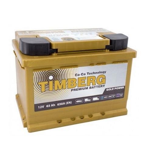 Аккумулятор Timberg Gold Power  6СТ-  65 VRLA (о.п.) низк.