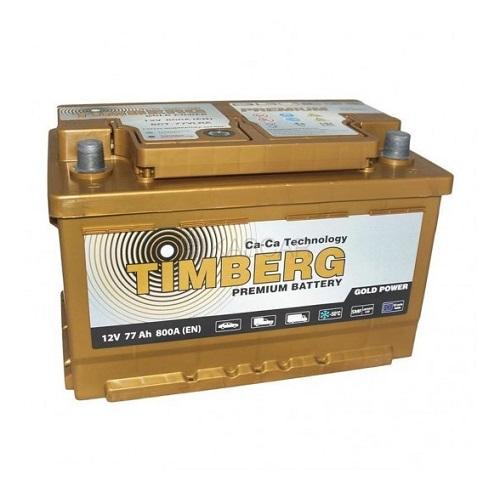 Аккумулятор Timberg Gold Power  6СТ-  77 VRLA (о.п.) низк.
