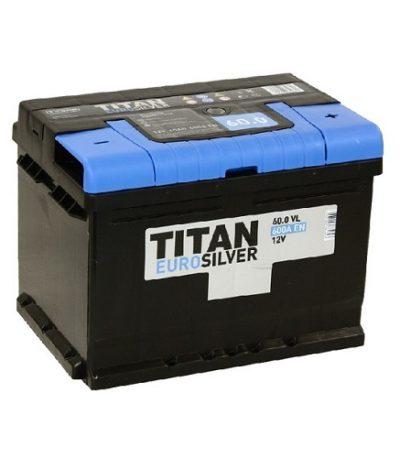 Аккумулятор TITAN EUROSILVER 6СТ- 60 ач о.п. низкий