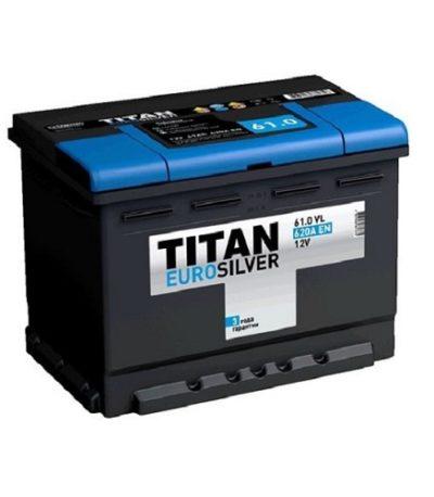 Аккумулятор TITAN EUROSILVER 6СТ- 61 ач о.п.