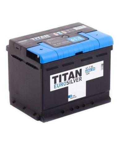 Аккумулятор TITAN EUROSILVER 6СТ- 61 ач п.п.