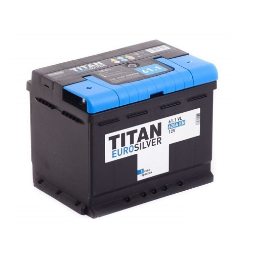 Аккумулятор TITAN EUROSILVER 6СТ-61.1 VL