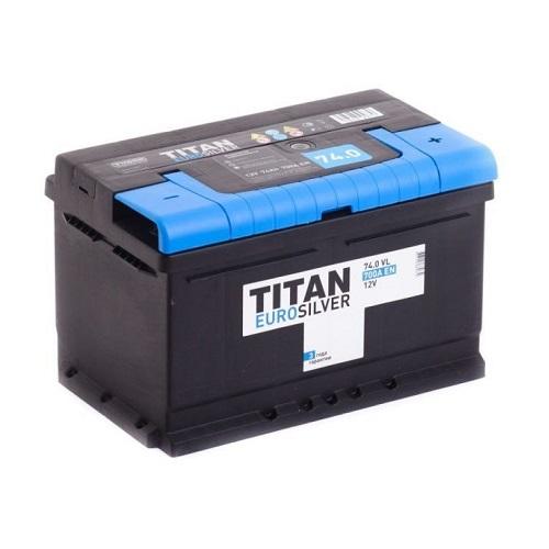 Аккумулятор TITAN EUROSILVER 6СТ- 74 ач о.п. низкий