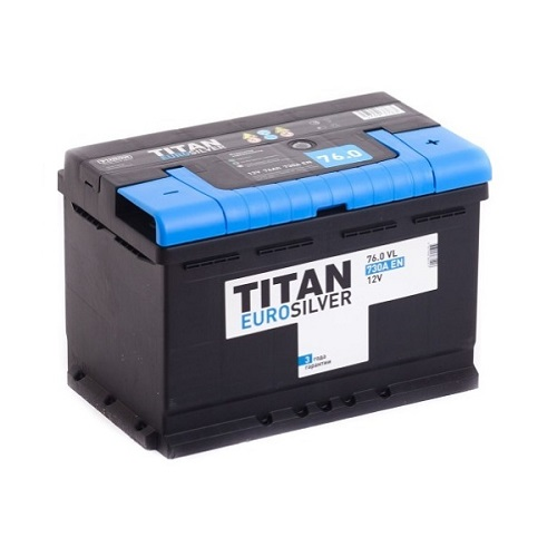 Аккумулятор TITAN EUROSILVER 6СТ-76.0 VL