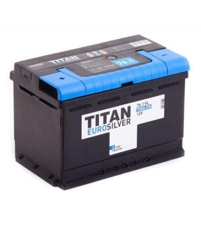 Аккумулятор TITAN EUROSILVER 6СТ-76 ач п.п.