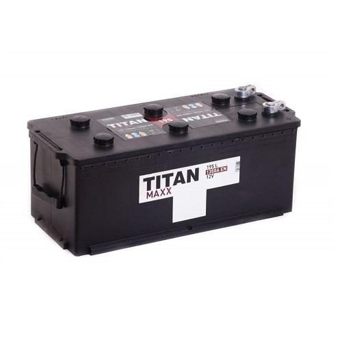 Аккумулятор TITAN MAXX 6СТ-195 евро конус/болт