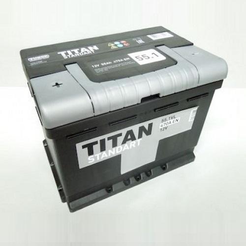 Аккумулятор Титан Standart 6СТ- 55 ач п.п.
