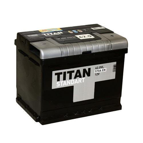 Аккумулятор Титан Standart 6СТ- 62 ач о.п.
