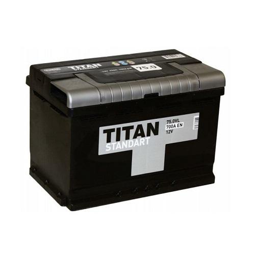 Аккумулятор Титан Standart 6СТ- 75 ач о.п.