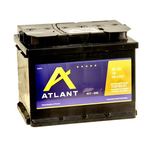 Аккумулятор ATLANT 6СТ- 55 NR